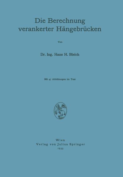 Die Berechnung verankerter Hängebrücken - Coverbild