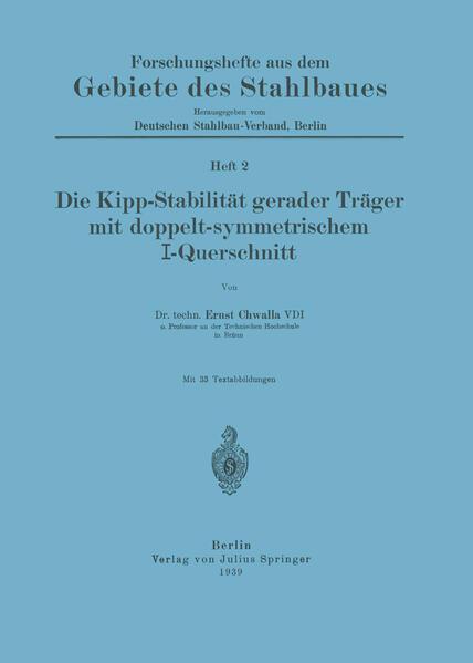 Die Kipp-Stabilität gerader Träger mit doppelt-symmetrischem I-Querschnitt - Coverbild