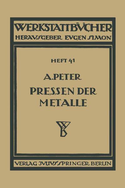 Das Pressen der Metalle (Nichteisenmetalle) - Coverbild