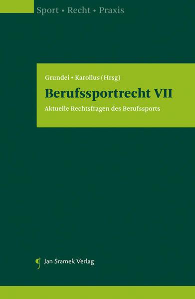 Berufssportrecht VII - Coverbild