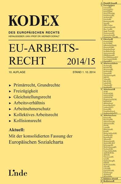 KODEX EU-Arbeitsrecht 2014/15 - Coverbild