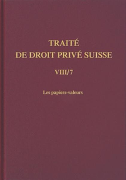 Bd. VIII/7: Les papiers-valeurs - Coverbild