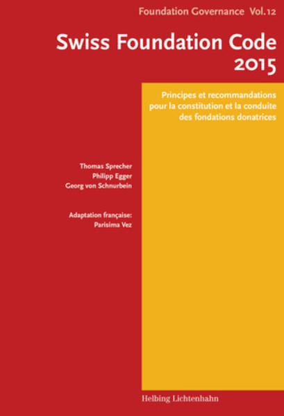 Swiss Foundation Code 2015 F - Coverbild
