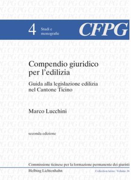Compendio giuridico per l'edilizia - Coverbild