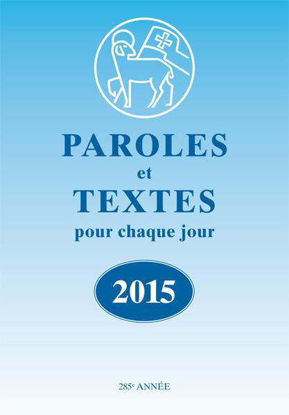 Paroles et Textes 2015 - Coverbild