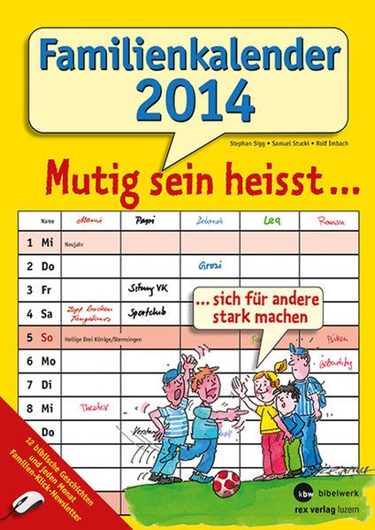 Familienkalender 2014 - Coverbild