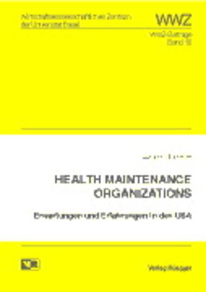 Health Maintenance Organizations - Coverbild