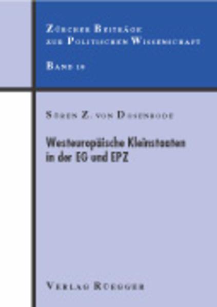 Westeuropäische Kleinstaaten in der EG und EPZ - Coverbild