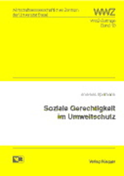 Soziale Gerechtigkeit im Umweltschutz - Coverbild