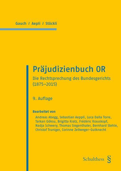 Präjudizienbuch OR - Coverbild