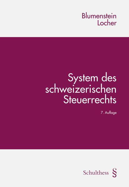System des schweizerischen Steuerrechts - Coverbild
