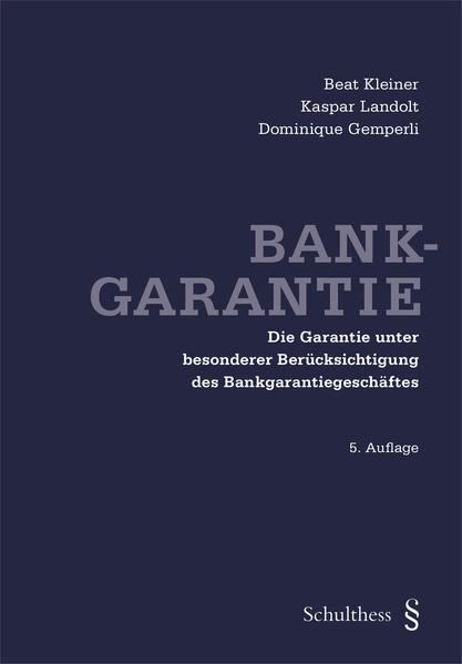 Bankgarantie - Coverbild