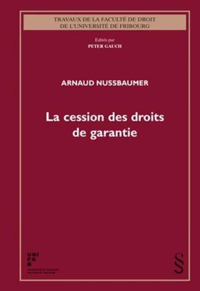 La cession des droits de garantie - Coverbild