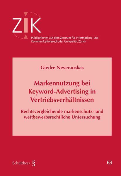 Markennutzung bei Keyword-Advertising in Vertriebsverhältnissen - Coverbild