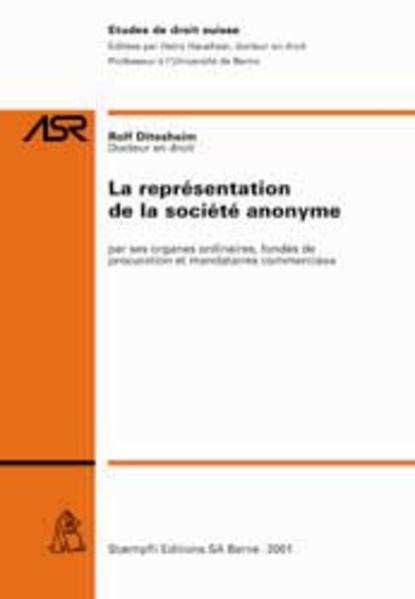 La représentation de la société anonyme - Coverbild