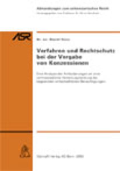Verfahren und Rechtsschutz bei der Vorgabe von Konzessionen - Coverbild