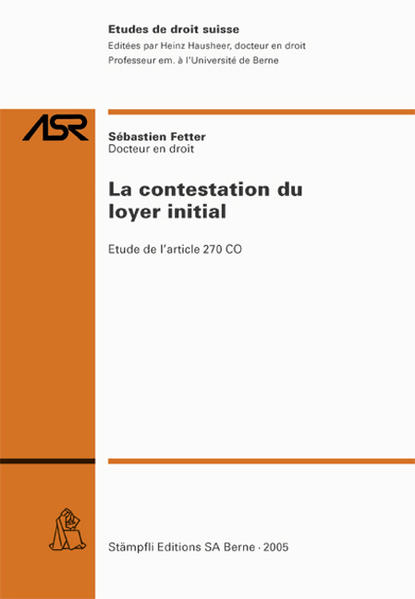 La contestation du loyer initial - Coverbild