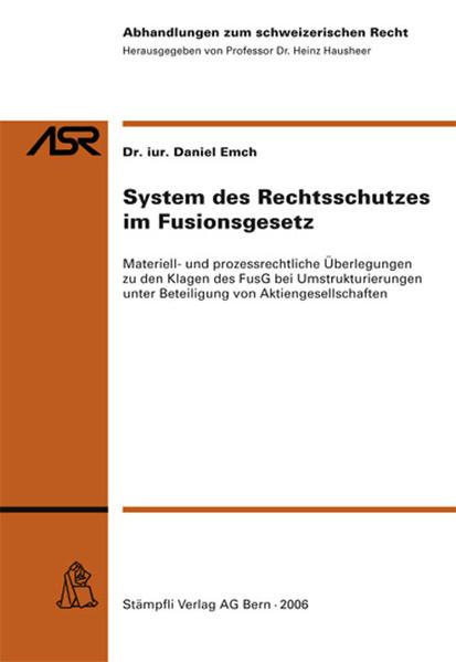 System des Rechtsschutzes im Fusionsgesetz - Coverbild
