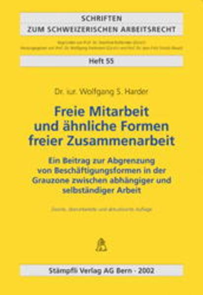 Freie Mitarbeit und ähnliche Formen freier Zusammenarbeit - Coverbild