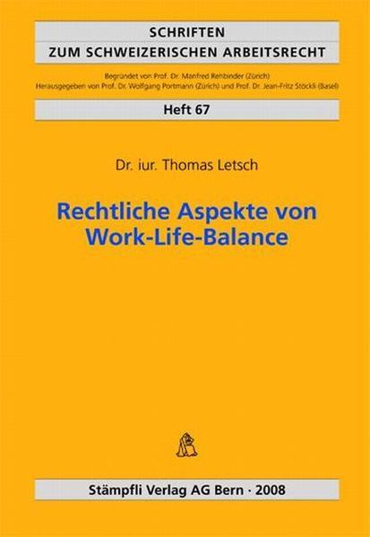 Rechtliche Aspekte von Work-Life-Balance - Coverbild