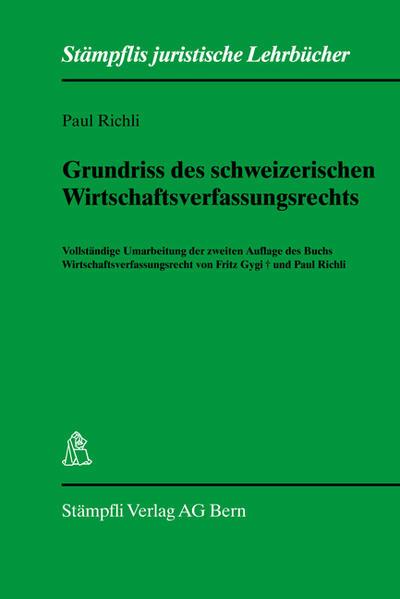 Grundriss des schweizerischen Wirtschaftsverfassungsrecht - Coverbild