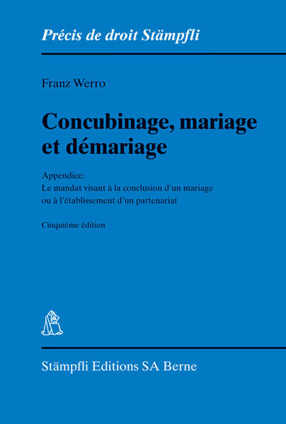 Concubinage, mariage et démariage - Coverbild