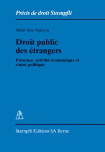 Droit public des étrangers - Coverbild