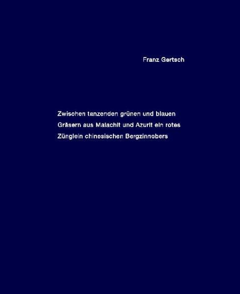 Franz Gertsch - Coverbild