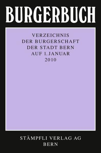 Burgerbuch 2010 - Coverbild