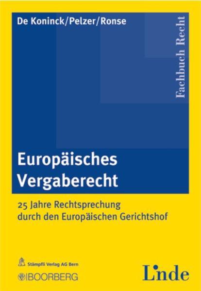 Europäisches Vergaberecht - Coverbild
