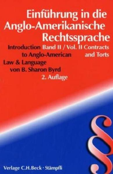 Einführung in die angloamerikanische Rechtssprache / Introduction to Anglo-American Law and Language - Coverbild