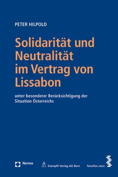 Solidarität und Neutralität im Vertrag von Lissabon - Coverbild