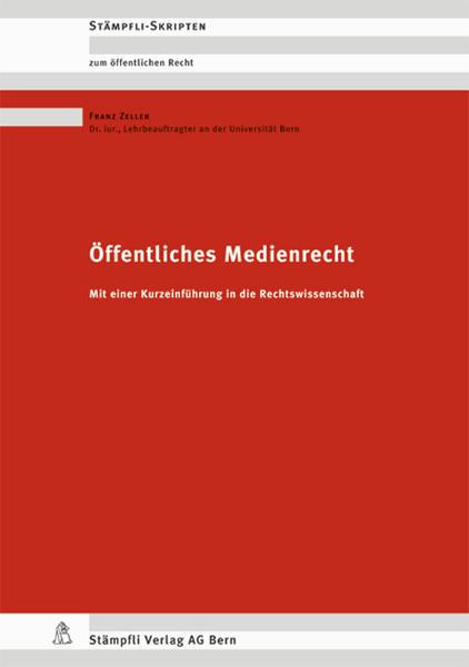 Öffentliches Medienrecht - Coverbild