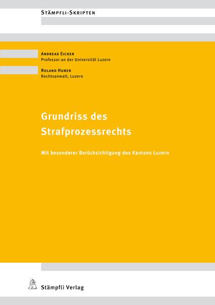 Grundriss des Strafprozessrechts - Coverbild