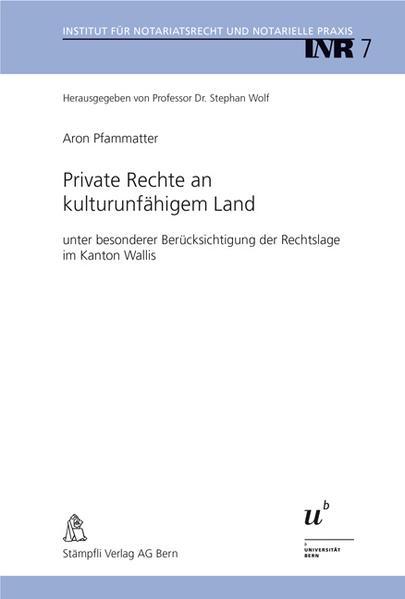 Private Rechte an kulturunfähigem Land - Coverbild