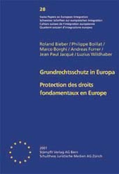 Grundrechtsschutz in Europa /Protection des droits fondamentaux en Europe - Coverbild