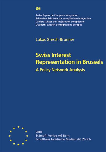 Swiss Interest Representation in Brussels - Coverbild