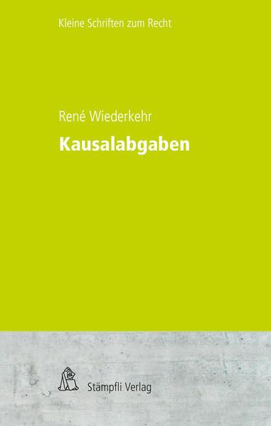 Kausalabgaben - Coverbild