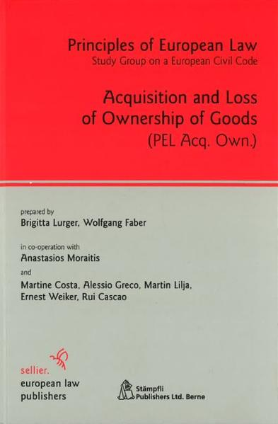 Acquisition and Loss of Ownership of Goods - Coverbild