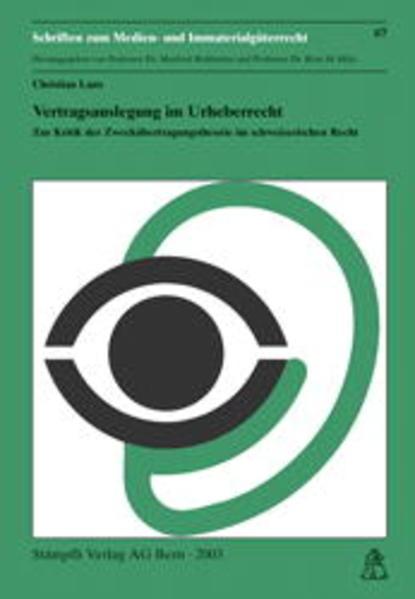Vertragsauslegung im Urheberrecht - Coverbild