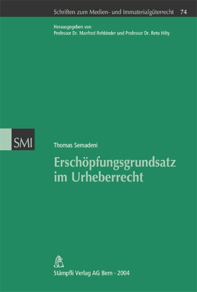 Erschöpfungsgrundsatz im Urheberrecht - Coverbild