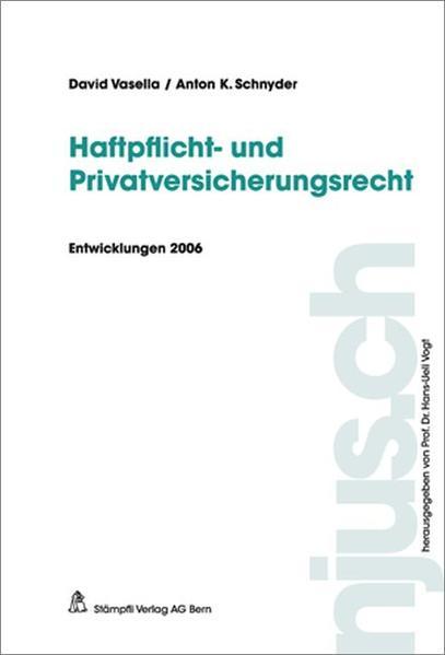 Haftpflicht- und Versicherungsrecht - Coverbild