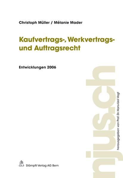 Kaufvertrags-, Werkvertrags- und Auftragsrecht - Coverbild