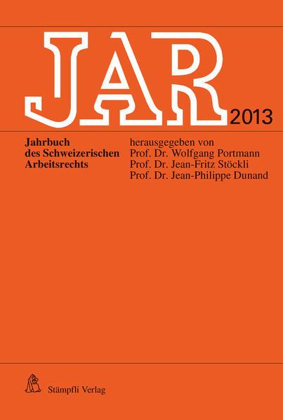 JAR 2013 - Coverbild