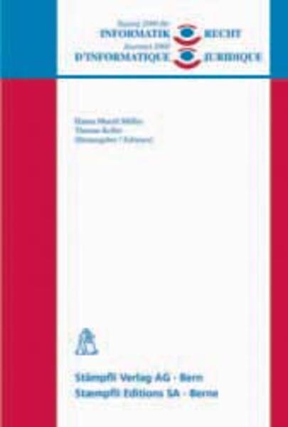 Tagung 2000 für Informatik und Recht /Journées 2000 d'informatique juridique - Coverbild