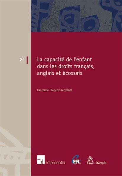 La capacité de l'enfant dans les droits français, anglais et écossais. - Coverbild