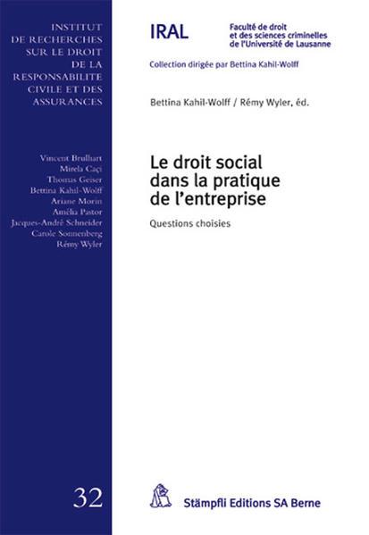 Le droit social dans la pratique de l'entreprise - Coverbild