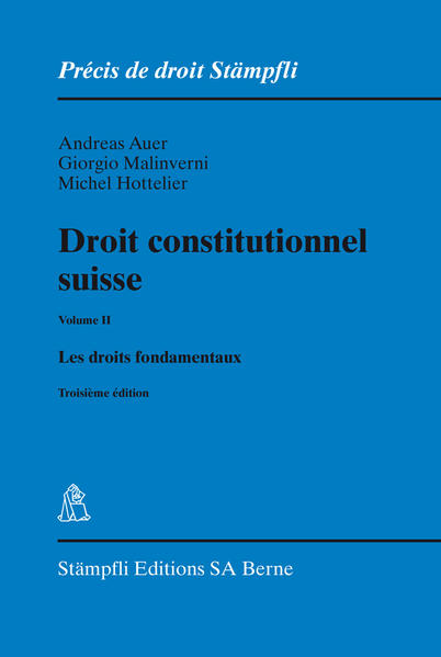 Droit constitutionnel suisse Volume II - Coverbild