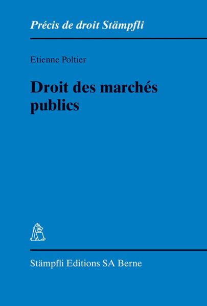 Droit des marchés publics - Coverbild