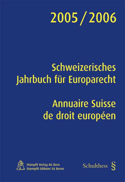Schweizerisches Jahrbuch für Europarecht /Annuaire Suisse de droit européen - Coverbild